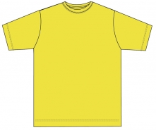 Kinder Shirt mit rundem Ausschnitt JERZEES COLOURS- YELLOW