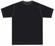 Kinder Shirt mit rundem Ausschnitt JERZEES COLOURS- BLACK